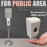 Electric Sensor Touchless Floor Stand Automatic Hand Sanitizer Dispenser For Public Area