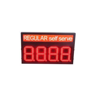 ป้ายราคาเชื้อเพลิงอิเล็คทรอนิกส์สำหรับปั๊มน้ำมัน LED สีแดงปกติ 8
