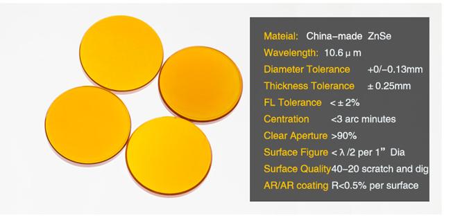 TEN-HIGH Diameter 25mm Focal Lens for CO2 Laser Cutting Engraving Machine 1.5 FL 1.5//38.1mm