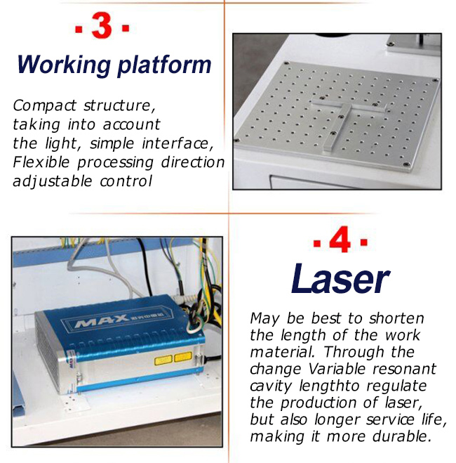 Desktop Fiber Laser Marking Engraving Machine, Ratory Axis Include